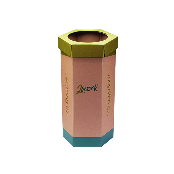2Work Green Recycling Bin Pack of 3 CAP582758/A