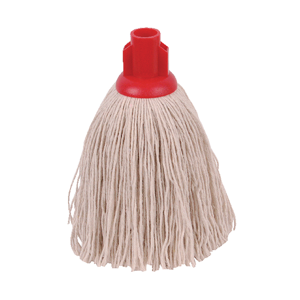 2Work 12oz Twine Rough Socket Mop Red (10 Pack) 101851