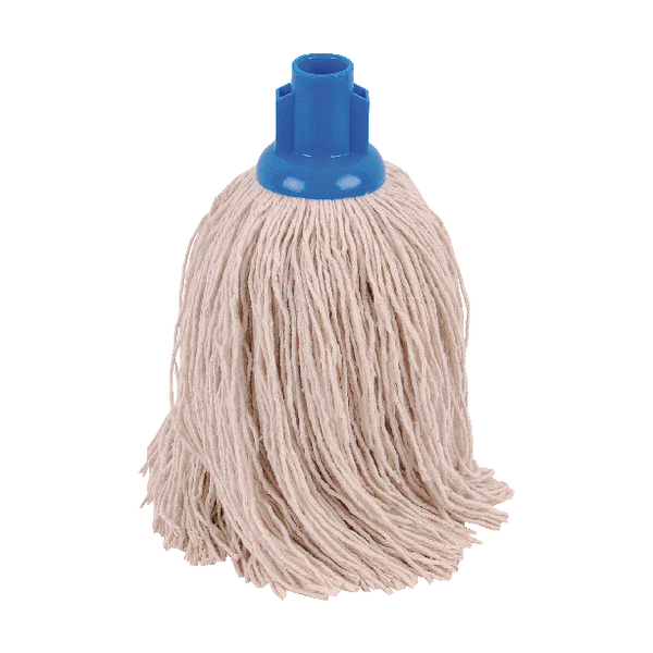2Work 14oz Twine Rough Socket Mop Blue (10 Pack) PJTB1410I