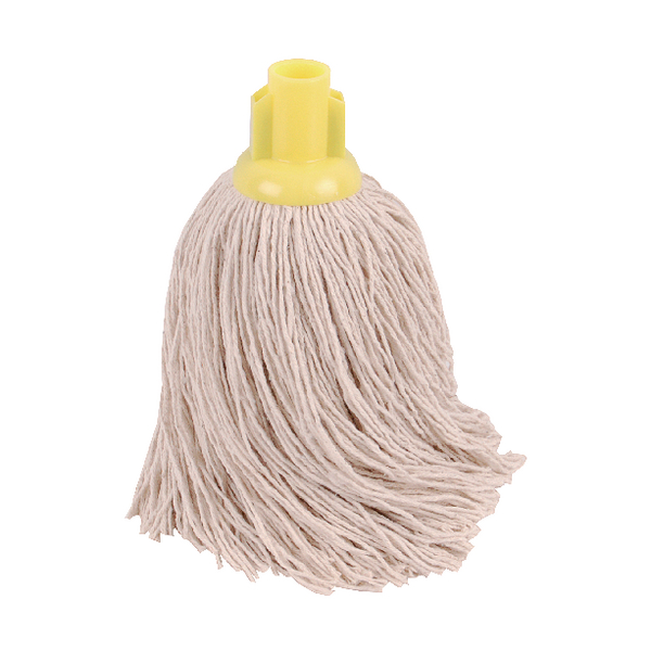 2Work 14oz Twine Rough Socket Mop Yellow (10 Pack) PJTY1410I