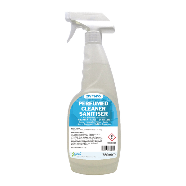 2Work Perfumed Cleaner Sanitiser 750ml 2W71455