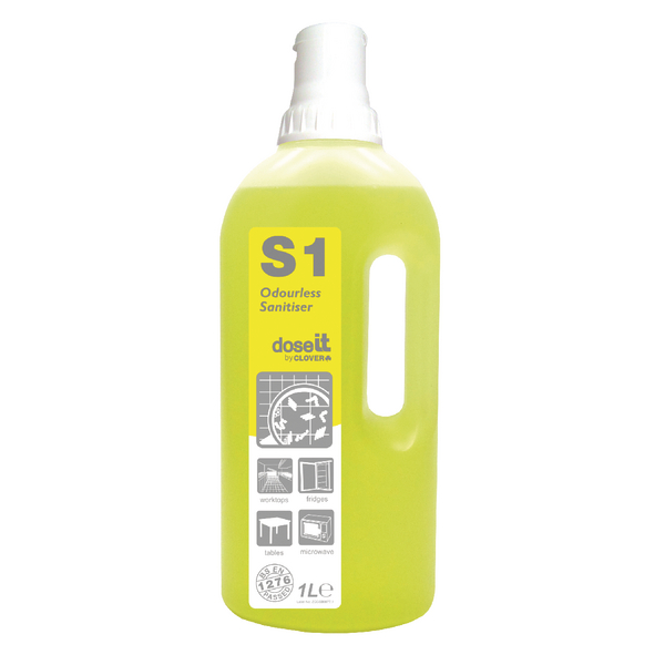 Dose It S1 Odourless Sanitiser 1 Litre (8 Pack) 225