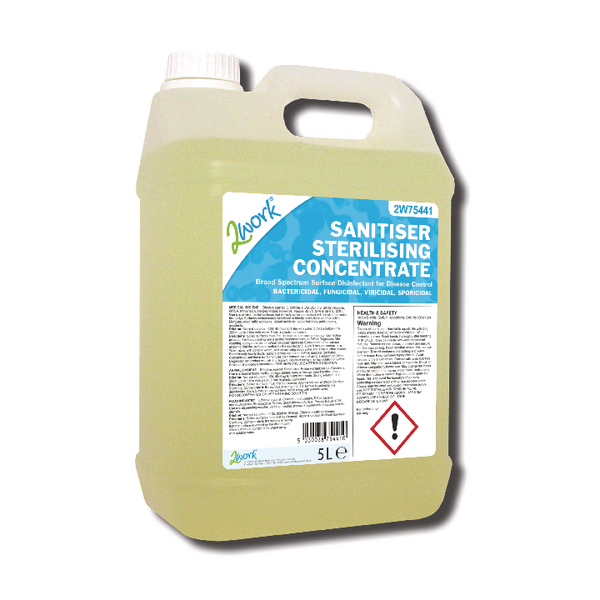 2Work Sanitiser Sterilising Cleaner 5 Litre 260