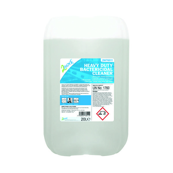 2Work Heavy Duty Bactericidal Cleaner 20 Litre (Pack of 1) 319