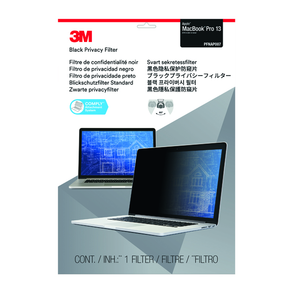 3M Privacy Filter for Apple Macbook Pro 13in 2016 Model PFNAP007