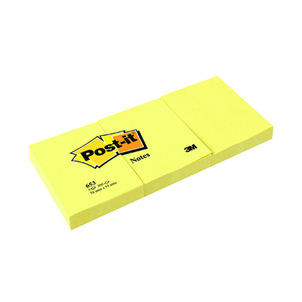 Post-it Notes 38 x51mm Canary Yellow (12 Pack) 653Y