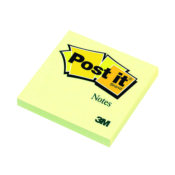 Post-it Notes 76 x 76mm Canary Yellow (12 Pack) 654Y