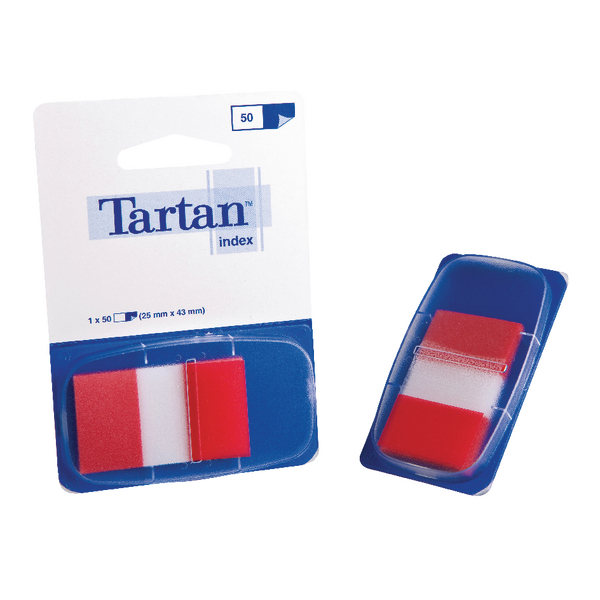 Tartan Dispenser 25x43mm 50 Sheet Red Index Tabs 70005019818