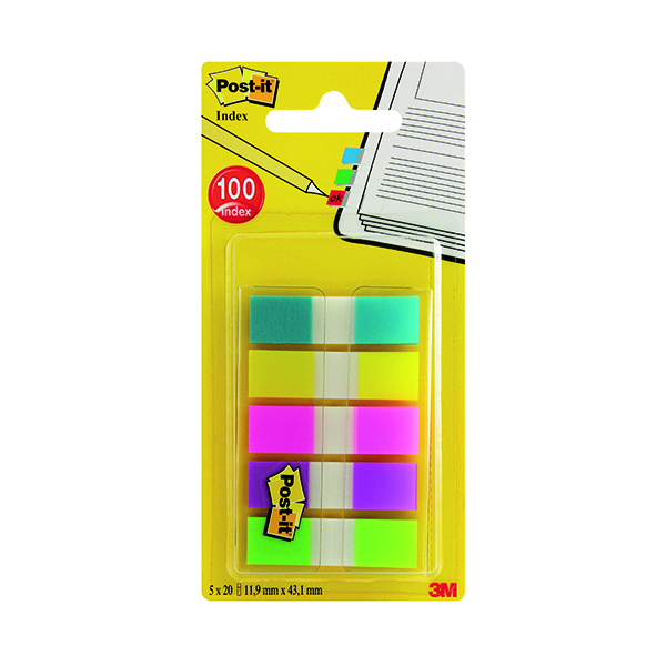 Post-it Portable Small Index 12mm Assorted 683-5CBINDEX