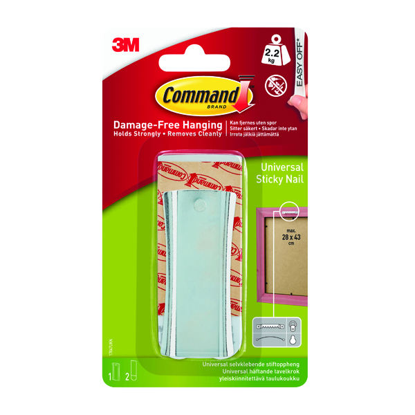 Command Universal Metal Picture Hanger 1HK+2S Large+4S Mini 17047