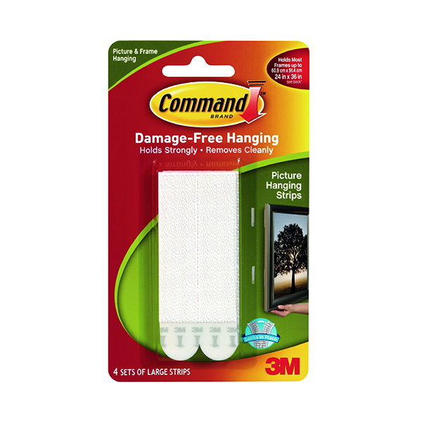 Command Large Picture Hanging Strip Clipstrip (12 Pack) 7100064951