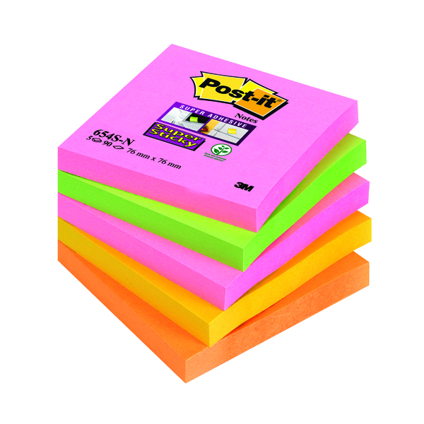 Post-it 76 x 76mm Cape Town Super Sticky Notes (5 Pack) 654-SN