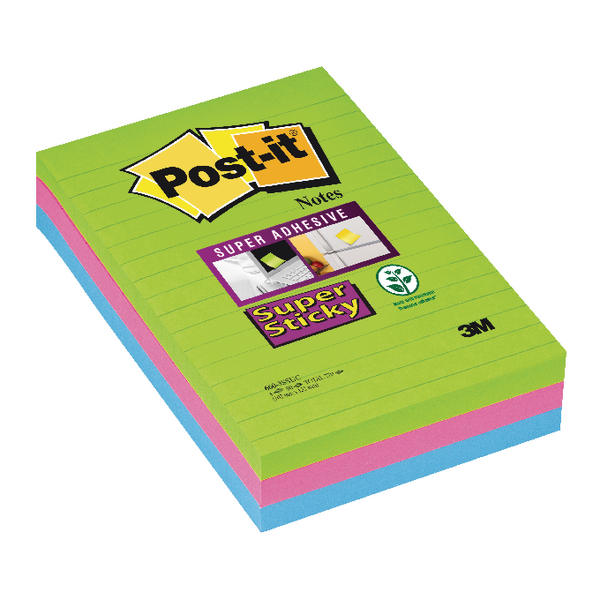 Post-it XXL Super Sticky Lined Ultra Note (2 Pack) 3M811279