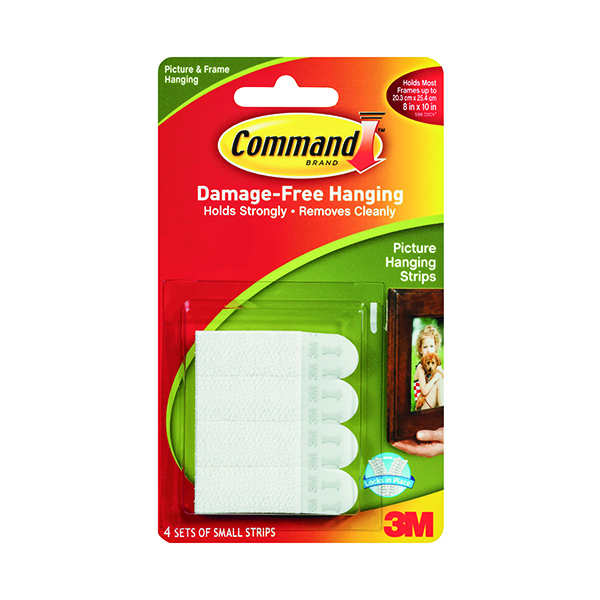 3M Command Picture Hanging Strips Small (4 Pack) 17202