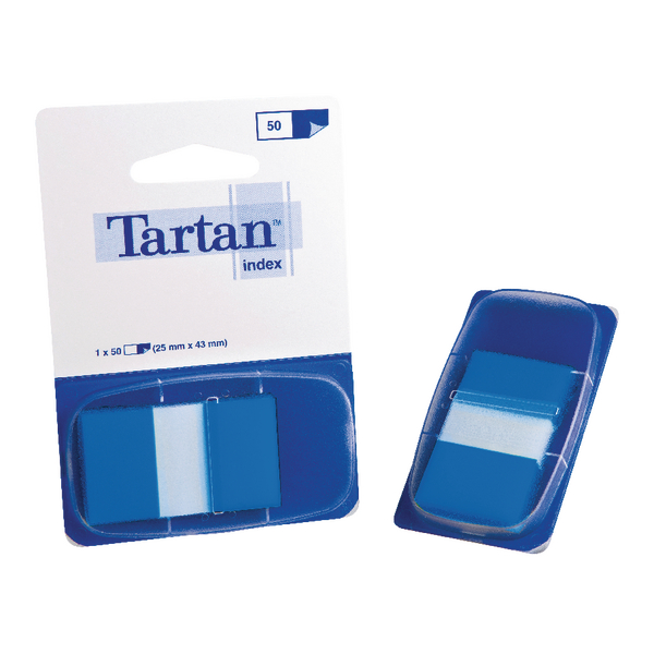 Tartan Dispenser 25x43mm 50 Sheet Blue Index Tabs 70005033512