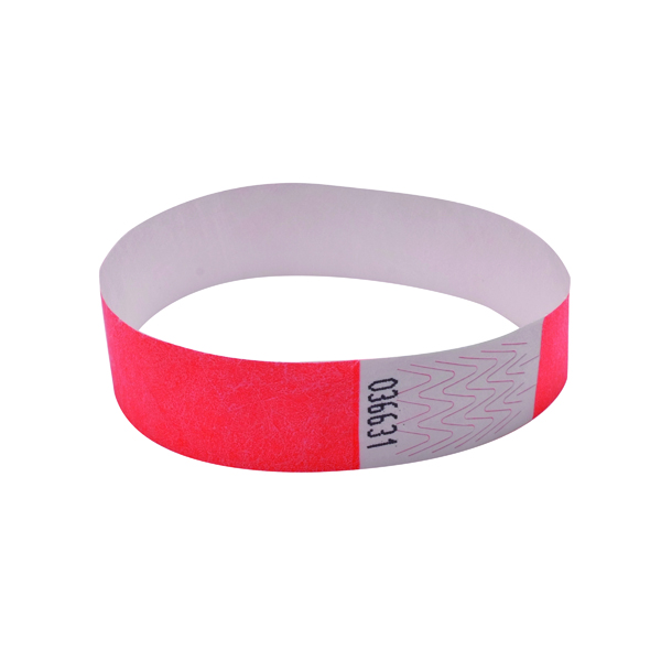 Announce Wrist Bands 19mm Coral (1000 Pack) AA01833