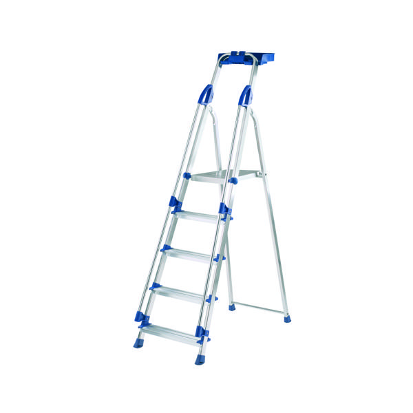 Abru Blue Seal 5 Tread Professional Aluminium Step Ladder 70505