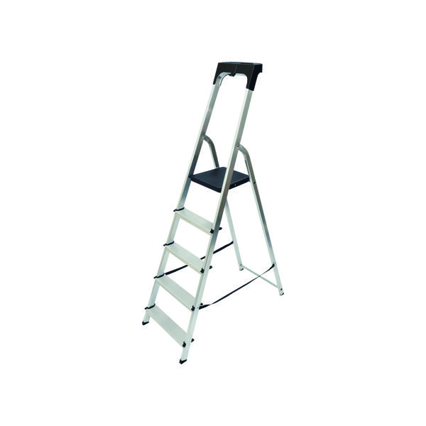 Abru Aluminium High Handrail 5 Tread Step Ladder 60605