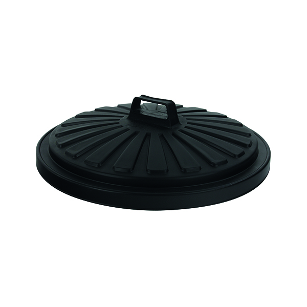 Addis Black Dustbin Lid Round 90 Litre 0766MOB