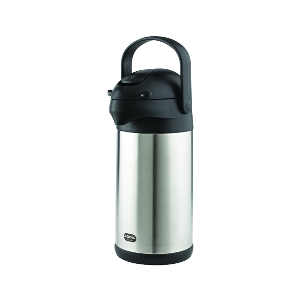 Addis Chrome President Pump Pot Vacuum Jug 3 Litre 517465