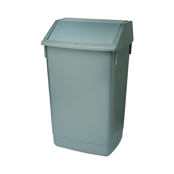 Addis Metallic Grey 60 Litre Fliptop Bin AG813418