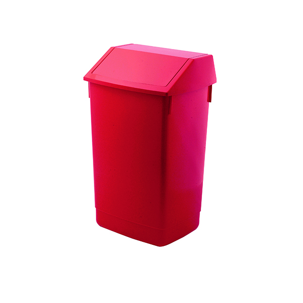 Addis Red 60 Litre Fliptop Bin AG813421