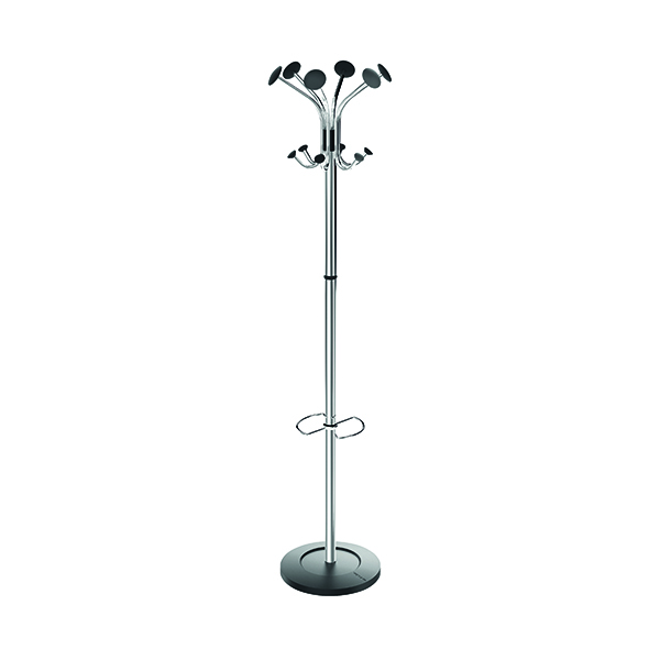 Alba Chrome/Black Coat Stand PMCLASS