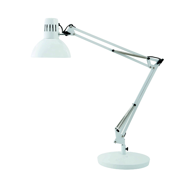 Alba 60W White Architect Desk Lamp ARCHI BC
