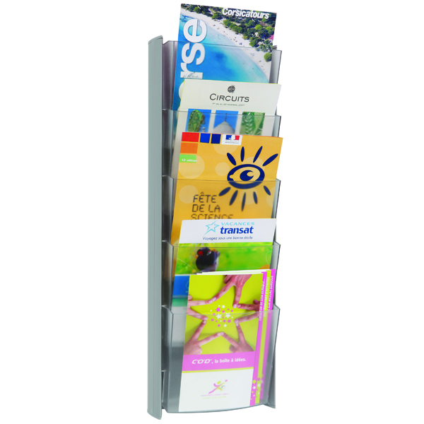 Alba 5 Pocket A5 Metallic Wall Display Unit DDPROMMM