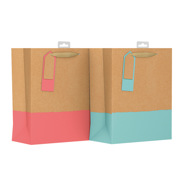 Giftmaker Colour Dipped Gift Bag Medium (6 Pack) GDPM