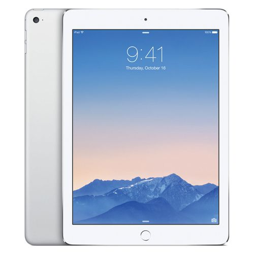 Apple iPad Air 2 Wi-Fi + Cellular 64GB Silver (Pack of 1) MGHY2B/A