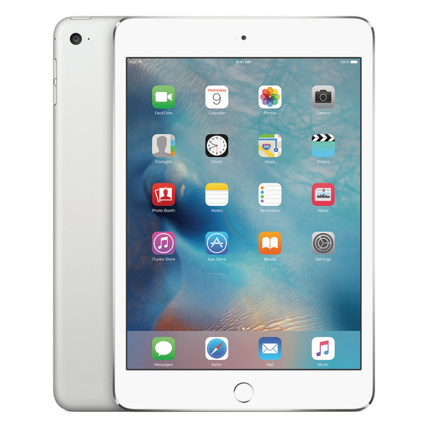 Apple 7.9in iPad Mini 4 Wi-Fi + 4G 128GB Silver MK8E2B/A