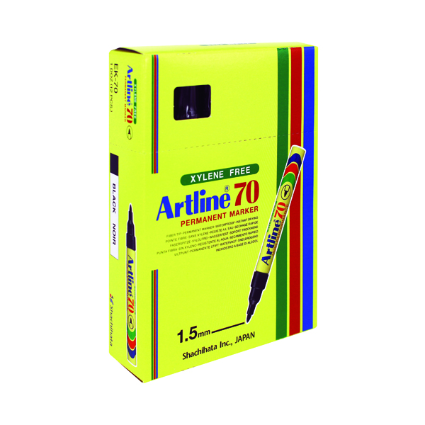 Artline 70 Bullet Tip Permanent Marker Black (12 Pack) A701