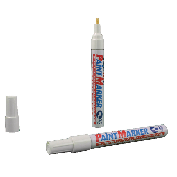 Artline 400 Medium Bullet Tip White Paint Marker (12 Pack) BOGOF AR810502