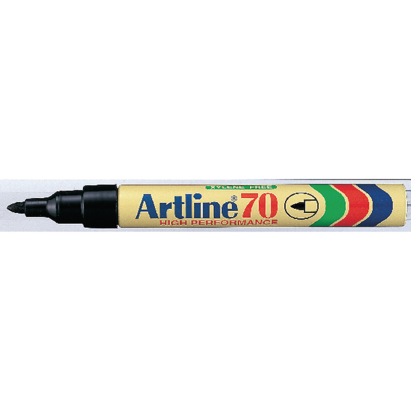 Artline 70 Permanent Marker Bullet Tip Black (Pack of 12) Buy 1 Get 1 Free AR810503