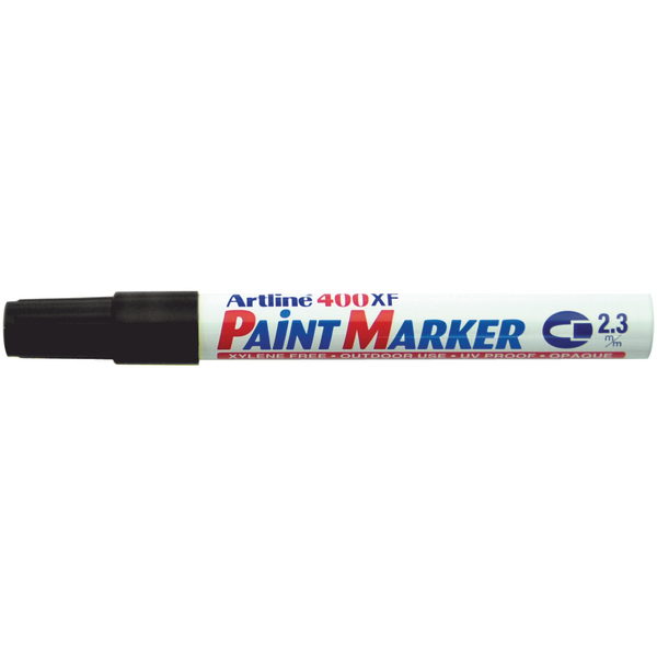 Artline 400 Medium Bullet Tip Black Paint Marker (12 Pack) A4001