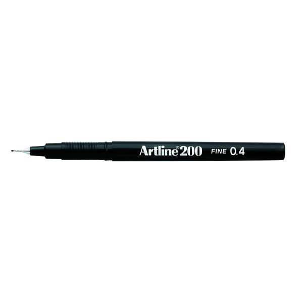 Artline 200 Black Fineliner (12 Pack) A2001