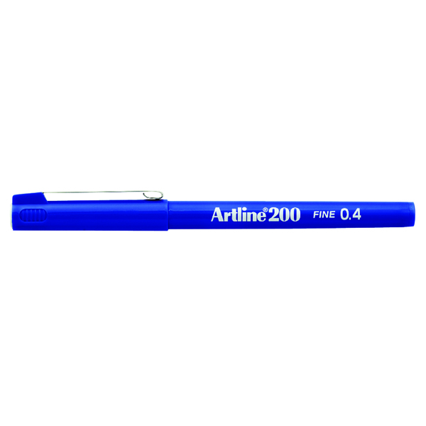 Artline 200 Blue Fineliner Pen (12 Pack) A2003
