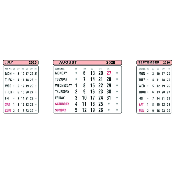 At-a-Glance Refill For 3S20 3 Month View Calendar 2020 3SR20