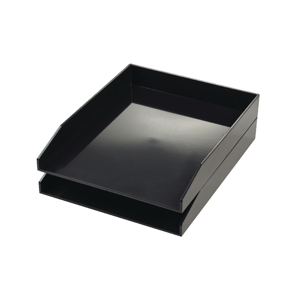 Avery Cool Black ColorStak Letter Tray (2 Pack) CS104