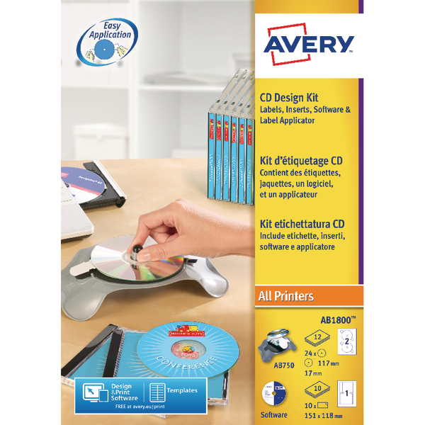 avery templates and software - stationery supplies avery afterburner cd dvd label system