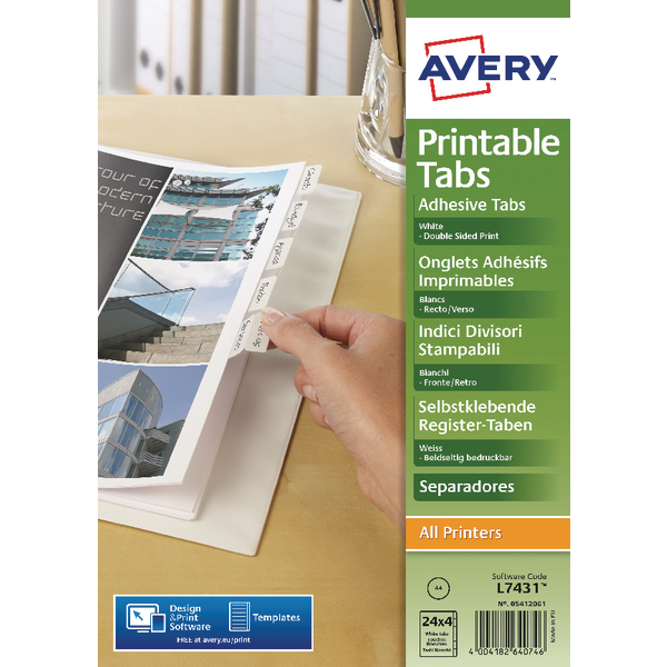 Avery Printable Tabs (Pack of 96) 05412061