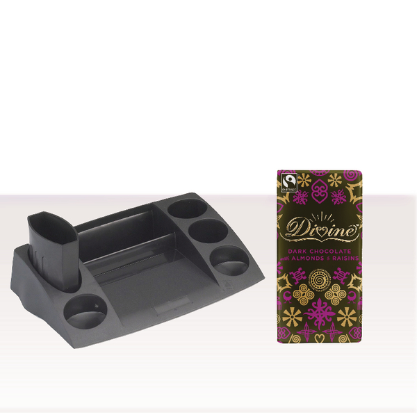 Avery Desktop Desktidy Black with FOC Chocolate AV814359