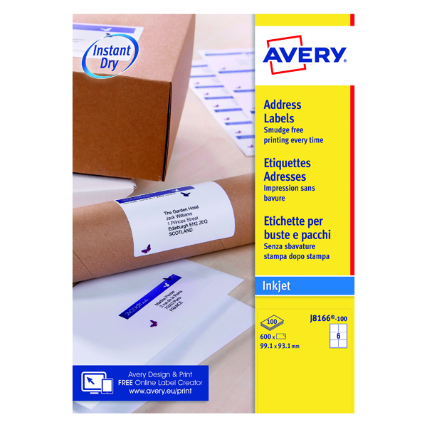 avery labels 6 per page