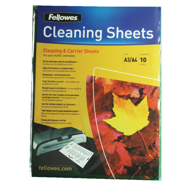 Fellowes A4 Laminator Cleaning and Carrier Sheets (10 Pack) 5320601