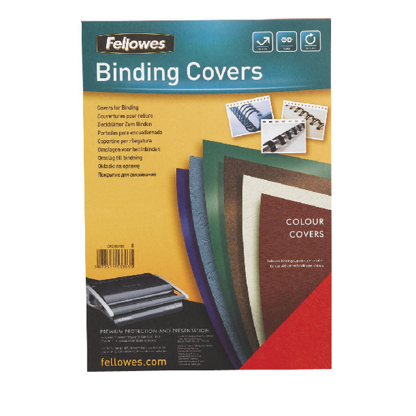 Fellowes Delta White Leather Board Covers A4 (Pack of 100) 5370101