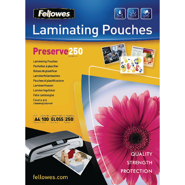 Fellowes A4 Laminating Pouches 500 Micron (100 Pack) 54018