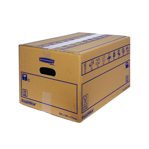 Bankers Box SmoothMove Standard Moving Box 320 x 260 x 470mm (10 Pack) 6207201