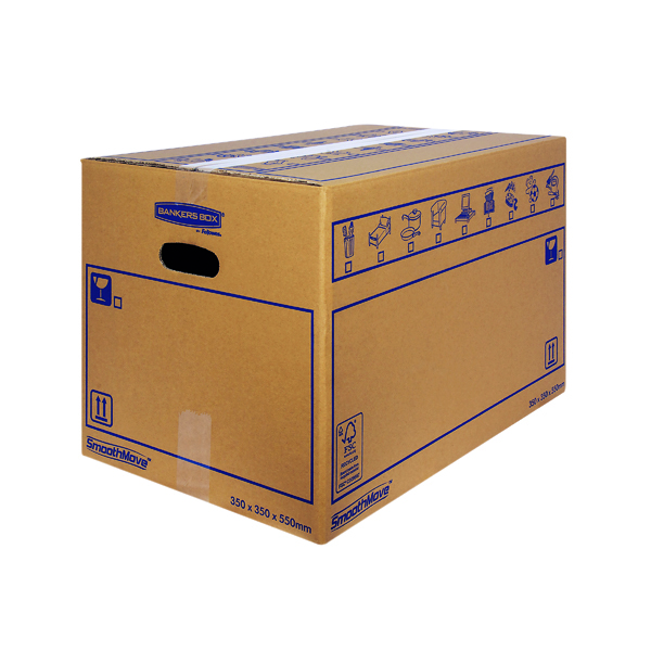 Bankers Box SmoothMove Standard Moving Box 350 x 350 x 550mm (10 Pack) 6207301