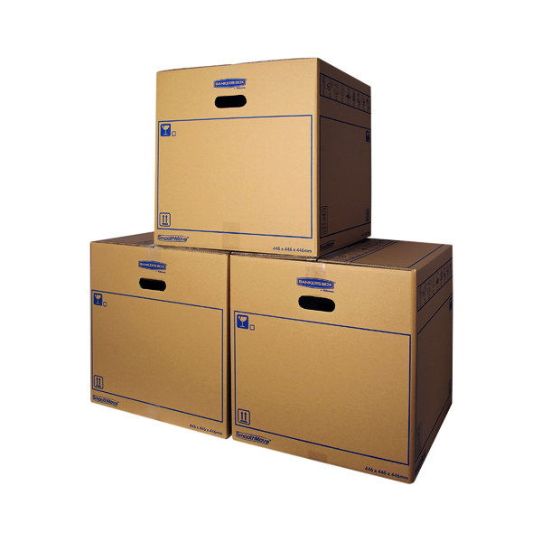 Bankers Box SmoothMove Standard Moving Box 446 x 446 x 446mm (10 Pack) 6207401